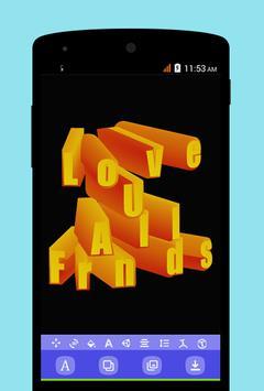 f6cdee690 ... المصمم نص ثلاثي الأبعادعلى الصور: التصمیم الشعار تصوير الشاشة 5 ...