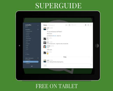 Guía WhatsApp para tablet poster