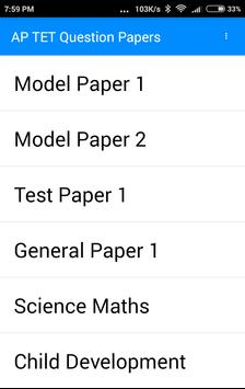 APTET Previous Year Questions Papers poster