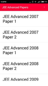 IIT JEE Advanced 10 year paper poster