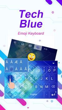 Tech Blue Theme&Emoji Keyboard apk screenshot