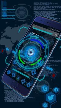 Tech Blue Sci-Fi Theme screenshot 4