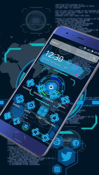 Tech Blue Sci-Fi Theme screenshot 1
