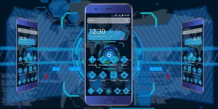 Tech Blue Sci-Fi Theme screenshot 3