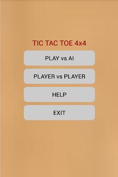 Strategic Tic Tac Toe 4x4 poster