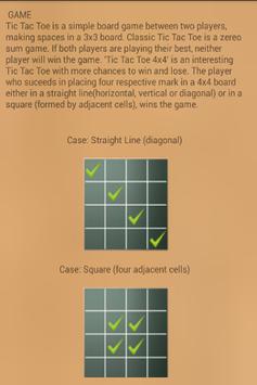 Strategic Tic Tac Toe 4x4 screenshot 1