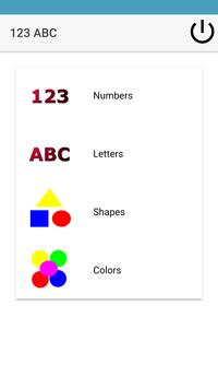 Kids Learn ABC 123 Shapes Colors poster