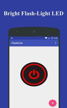 Portable Bright Flashlight LED poster