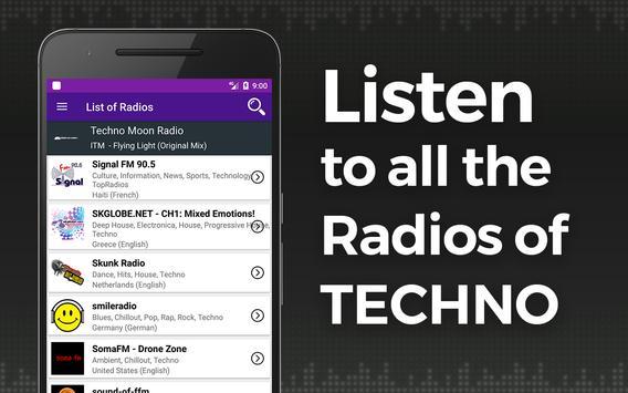 Rádio da música de Techno Cartaz