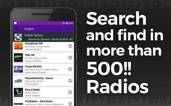Rádio da música de Techno imagem de tela 1