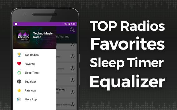 Rádio da música de Techno imagem de tela 3