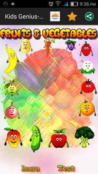 Kids Genius - Fruits & Veg poster