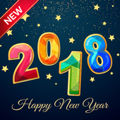 New Year Name Greeting 2018 icon