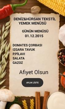 Deniz&Hürsan Tekstil Yemek poster