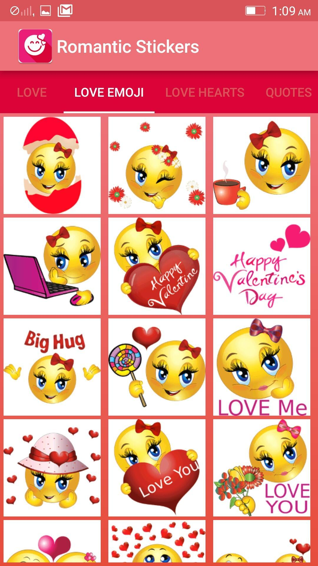 Romantic emojis for whatsapp and facebook for Android - APK