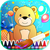 Teddy Bear Coloring Book Kids icon