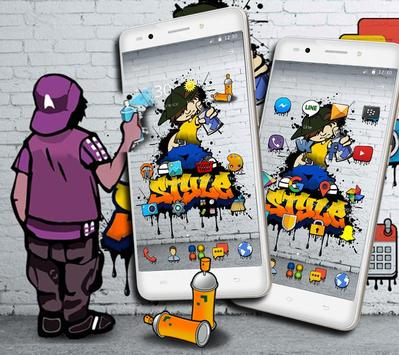 Graffiti Background Wall Theme screenshot 1