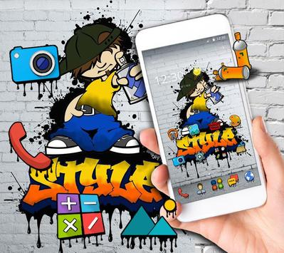 Graffiti Background Wall Theme screenshot 2