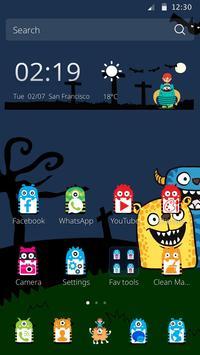 Cute Monster Teme poster