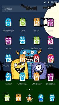 Cute Monster Teme apk screenshot