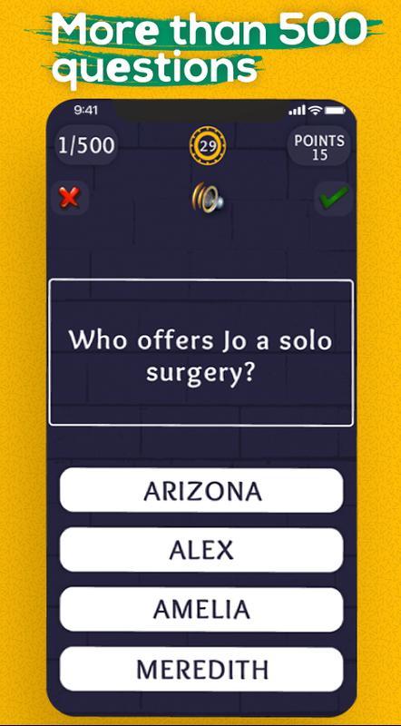 Quiz para grey\'s anatomy Super Grey anatomy Trivia Descarga APK ...