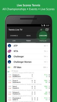 Tennis TV Live - Tennis Television - Live scores screenshot 1
