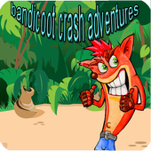 Super Bandicoot crazy and lovely jungle adventures icon