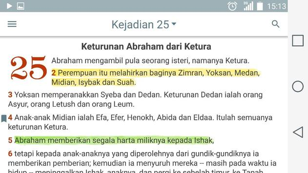 Alkitab apk screenshot