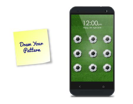 Football Pattern Screen Lock poster