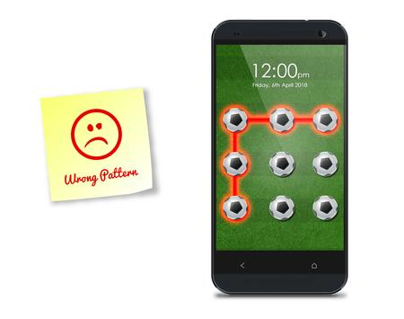Football Pattern Screen Lock apk screenshot