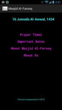 Masjid Al-Farooq poster