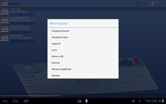Tessera Sanitaria Italiana apk screenshot