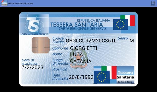 Tessera Sanitaria Italiana screenshot 9