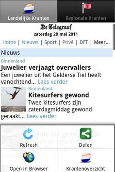 Kranten NL  (Nederland nieuws) poster