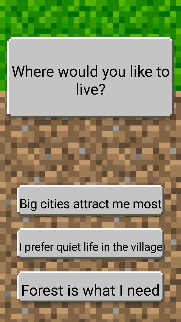Test who are you from Minecraft Joke for Android - APK Download