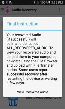 Audio Recovery screenshot 3