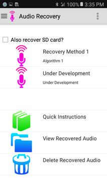 Audio Recovery poster