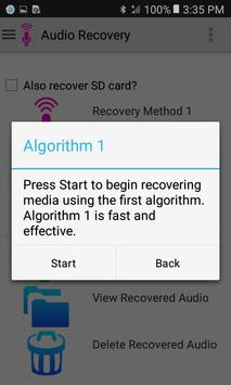 Audio Recovery screenshot 1