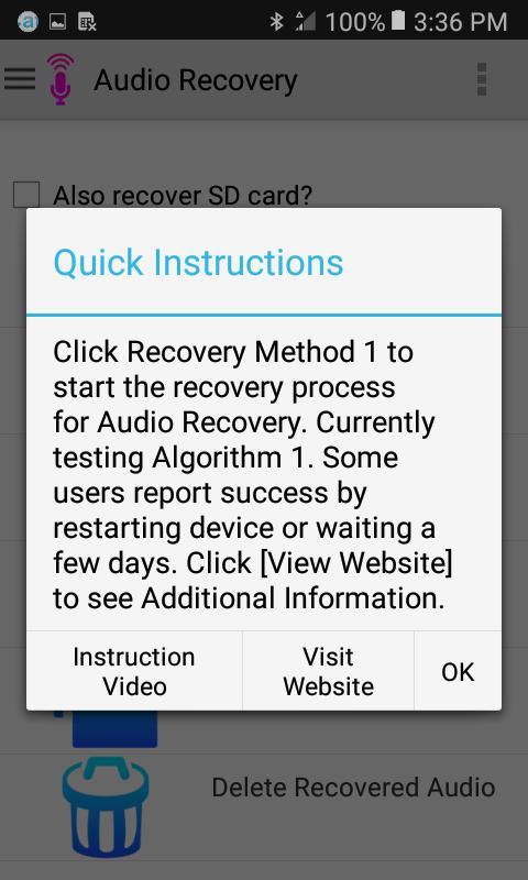 Audio Recovery for Android - APK Download