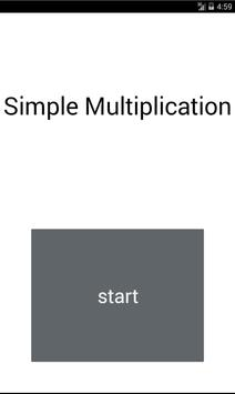 Simple Multiplication poster