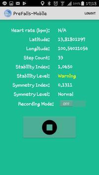 PreFalls-Mobile screenshot 2