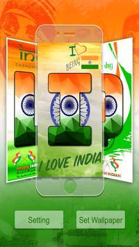 Indian Flag Text Live Wallpaper : 15 August 2018 screenshot 1