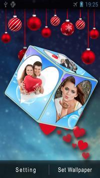3D Romantic Love Cube HD Live Wallpaper apk screenshot