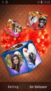 3D Romantic Love Cube HD Live Wallpaper poster