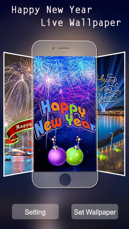 new year slideshow live wallpaper 2018 screenshot 1