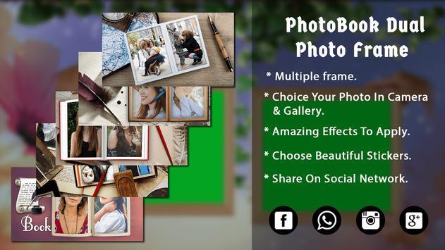 HD PhotoBook Dual Photo Frame poster