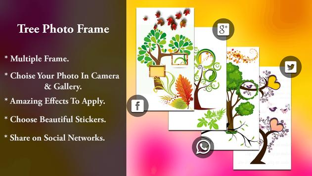 Tree Collage Photo Frame - 3D Tree Photo Editor poster