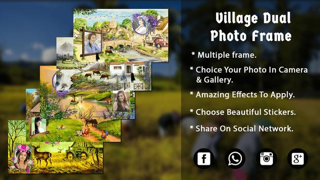 Village Dual Photo Frame - Photo Editor poster