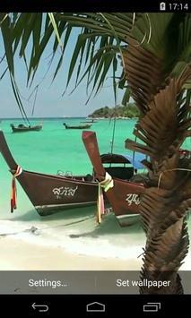 Thai boat Video Live Wallpaper poster