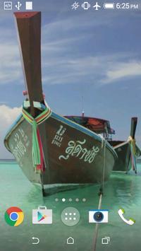 Thai boats live wallpaper poster